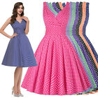 Womens/Ladies Vintage 1950s 60s Evening Party Cocktail Swing Pin Up Retro Dress