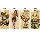 Sailor JERRY Tatoo Vintage Retro Skull Pattern Case For iPhone 5c 5s 6 6 Plus