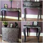 Black Silver Marrakesh Style Furniture Console Hall Tables Chest of Drawers Wood