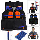 Tactical Vest with Storage Pockets for Nerf N-Strike Elite Team Toy Adjustable