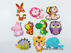 KAILIZ Cartoon Wild Zoo Animals Figures Kids Soft Fridge Magnet Educational Toys