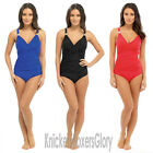 Ladies Tummy Control Padded Soft Cup Swimsuit/Swimming Costume Size 10-22 NEW