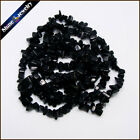 "1/2/5 PCS 36"" Strand Natural Obsidian Chip Gems Gravel Crystal Loose Beads 5-8mm"