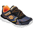 Skechers ASSEMBLERS PROTONS Boys Navy Orange Athletic Sneakers Shoes
