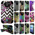 For Kyocera Hydro Reach Turbo Layer HYBRID KICKSTAND Rubber Case Phone Cover