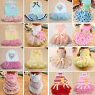 Various Cute Princess Dog Dress Pet Layered Skirt Tutu Apparel Clothes Summer
