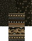 PERFECTLY PAISLEY Black and Brown Paisley Cotton Fabric - 1 Yard