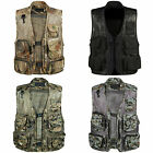 Men's Sleeveless Multi Pocket Fishing Vest Outdoor Hunting Fly Mesh Waistcoat