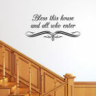 Bless This House and All Who Enter Wall Sticker