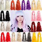 """24"""" 32"""" Cosplay Full Wig Sexy Women Long Curly Hair Cosplay Party Use Pink Black"""