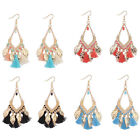 New Luxury Woman Lady Girl Boho Leaf Ethnic Tribal Gold Plated Hook Earrings