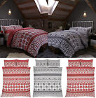 Oslo Duvet Quilt Cover Set, Nordic Reversible Single Double King Size Bedding