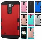 For LG K7 / Tribute 5 Tuff Trooper HYBRID TPU Hard Case Skin Cover +Screen Guard
