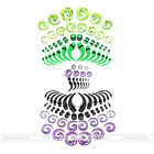 Mixed Gauges Acrylic Snail Horn Taper Spiral Tunnel Plug Ear Stretching Kit Punk