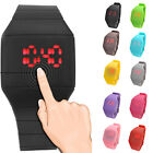 Newest Ultra-Thin LED Digital Touch Wristwatch Casual watch men women silicone
