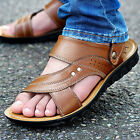 New Men's Leather Sandals Beach Shoes Slippers Casual Sports Fisherman Outdoor