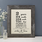 2 years together gift cotton print, 2nd Wedding Anniversary for husband wife