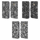 HEAD CASE DESIGNS BLACK LACE LEATHER BOOK WALLET CASE FOR SAMSUNG GALAXY S6 EDGE