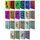 PATTERNED ANIMAL SILHOUETTES LEATHER BOOK WALLET CASE FOR APPLE iPAD MINI 1 2 3