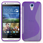 SLIM FITTED S-LINE HYDRO GEL SKIN CASE COVER FOR HTC DESIRE 620 MOBILE PHONE