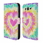 HEAD CASE DESIGNS PSYCHEDELIC LOVE LEATHER BOOK CASE FOR SAMSUNG GALAXY GRAND