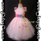 #RBP5 Baby Infant Girls Evening Birthday Party Church Night Sun Summer Dresses