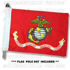 MARINES MOTORCYCLE FLAG   6X9 or 10X15   Double Sided and Double Stitched