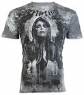 AFFLICTION Mens T-Shirt MOURNING Tattoo Motorcycle Biker Gym MMA UFC Jeans $66