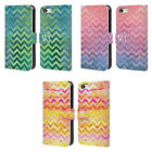 HEAD CASE DESIGNS WATERCOLOUR CHEVRON LEATHER BOOK CASE FOR APPLE iPHONE 5C