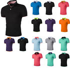 Fashion Mens Short Sleeves Slim Fit T-Shirts Casual Dress Shirts Tops Blouse TEE