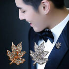 Hot Sale Gold Silver Maple Fashion Simple Atmosphere Men Women Brooch Wholesale