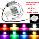 10/20/30/50/100W RGB LED Chip Light Waterproof LED Driver Power Supply Remote