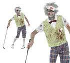 Zombie Golfer Mens Halloween Horror Pub Golf Fancy Dress Outfit