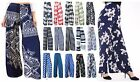 NEW LADIES FLORAL PRINT PALAZZO PLEETED TROUSERS WIDE LEG SUMMER PANTS PLUS SIZE