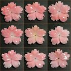 30mm Carved US pink Queen Conch shell flower pendant bead *each one pictured*