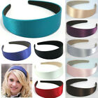 Women Girls Wide Plastic Headband Hair Band Accessory Satin Headwear Wholesale