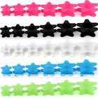 2pcs Flexible Silicone Star Flared Ear Tunnels Plugs Expander Stretcher Piercing