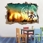 Ratchet And Clank Smashed Wall Decal Graphic Wall Sticker Decor Art Mural H471