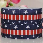 "7/8""22mm USA Independent day new and hot star pattern print grosgrain ribbon"