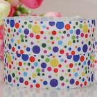 "1""25mm colorful dots pattern printed grosgrain ribbon USA Independent day"