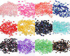 12g(2000pc) Half Round Acrylic Crystal Bead Flatback For Diy Craft 3mm