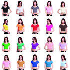 Women's Modal Cotton Tops Arab Short Sleeve T Shirt Muslim Tight Midriff Islamic