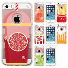 For Apple iPhone 5 5S SE TPU Gel GUMMY Hard Skin Case Phone Cover + Screen Guard