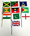 Mini Pakistan Or India HAND WAVE  Flags Car Van Accessory Gift 27cm Small Size