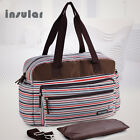 Stripe Pattern Baby Diaper Bag Women Maternity Shoulder bag with changing pad