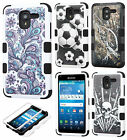 For Kyocera Hydro Reach C6743 IMPACT TUFF HYBRID Protector Case Skin Phone Cover