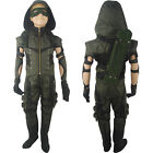 Kids Boys Green Arrow Oliver Queen Outfit Full Set Halloween Cosplay Costume