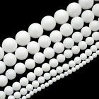 White Alabaster Gemstone Round Beads 15.5'' 4mm 6mm 8mm 10mm 12mm 14mm