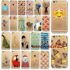 Funny Emoji Case Cover For iPhone 6 6S Fshion Lady Floral Pattern TPU Clear Skin