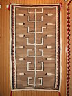 Older NAVAJO NAVAHO Indian Pictorial Rug Weaving...Eagle Feathers...VGCond....NR